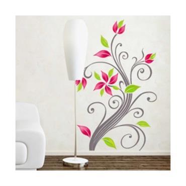 Sticker Fleurs arabesques