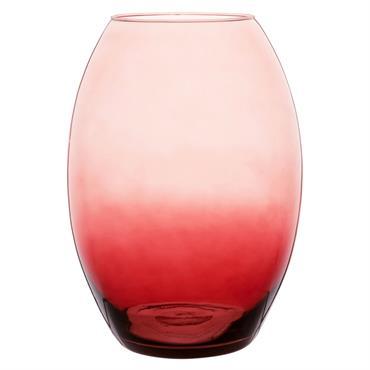 Vase obus en verre teinté dégradé H32