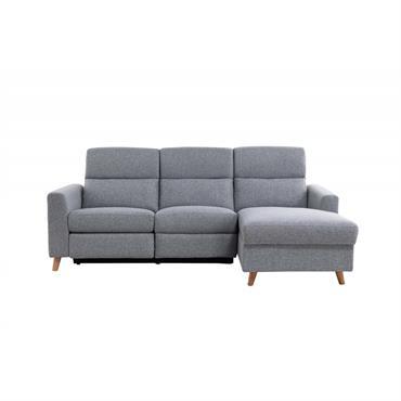 Canapé d'angle droit de relaxation scandinave 3 places