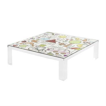 Table enfant Invisible Kids / Plateau décoré - Kartell multicolore