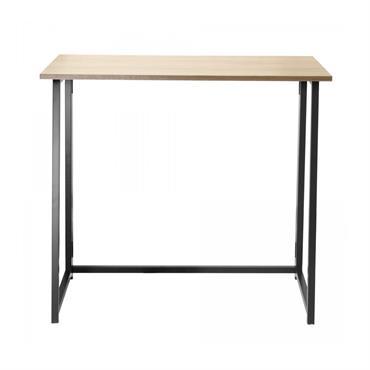 Bureau pliable style industriel - Longueur 80 cm - Marron