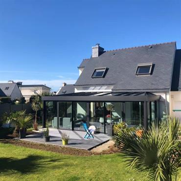 Cette réalisation situé a Milizac permet aux propriétaires de cette maison de profiter pleinement de leur espace jardin, tout en ... Domozoom