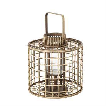 Lanterne en bambou et verre H39