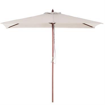 Grand parasol rectangulaire avec toile blanc beige . Pour profiter pleinement des jours d'été ensoleillés dans votre jardin ou sur votre terrasse, vous aurez besoin d'un Parasol ! Notre gamme ...