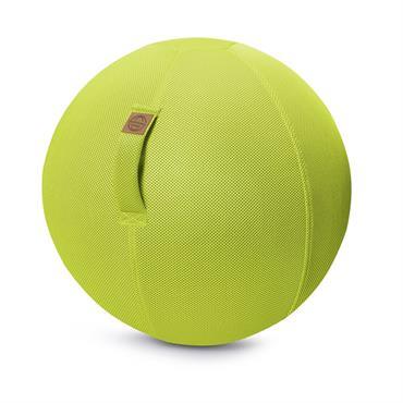 Balle d'assise gonflable enveloppe tissu mesh vert anis