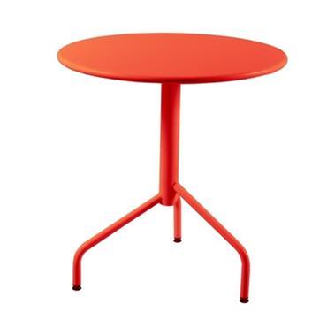 Table de jardin ronde métal pliante Riviera 70 cm