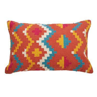 Coussin ethnique en coton multicolore 40x60cm MATOAKA