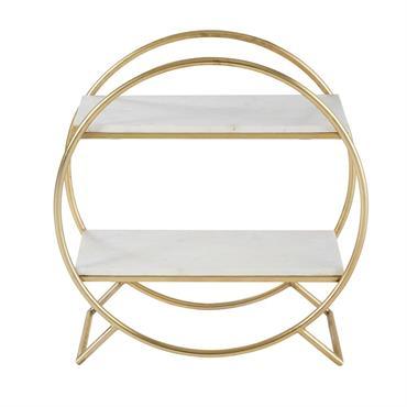 UN DESIGN SOBRELe design arrondi de l'étagère WENDY se mariera à merveille avec une décoration sobre et délicate.UN STYLE ORIGINALOriginale, l'alliance de ses étagères en marbre et de sa structure ...