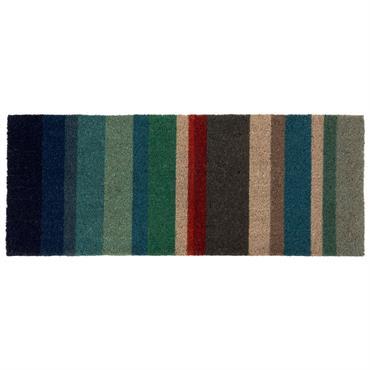 Paillasson imprimé bayadère multicolore 40x120