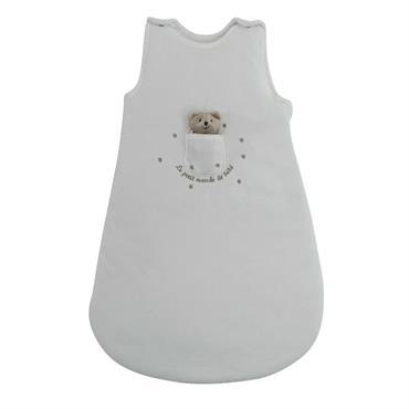 Gigoteuse bébé en coton blanche 45 x 70 cm BABY OURSON