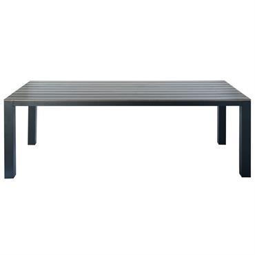 Table de jardin 8/10 personnes en aluminium gris anthracite L230 Escale