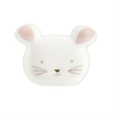 Coupelle souris en céramique blanche