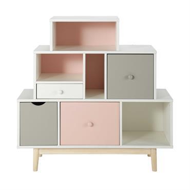 Cabinet de rangement 4 tiroirs blanc