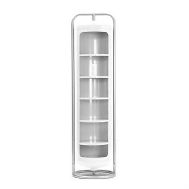 Armoire Tolix design Blanc en Métal. Dimensions : Larg 55,4 cm - Cylindre : Ø 46 cm - H 200,5 cm. Le vestiaire Cylindres peut s´installer et vivre partout : ...