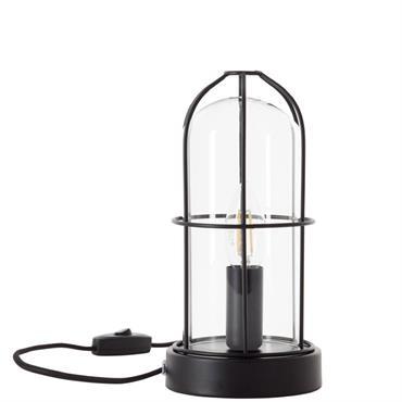 Lampe à poser métal et verre H25cm