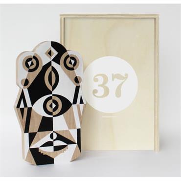 Coffret Designerbox#37 / Planche à découper Totem - Leslie David - Designerbox Blanc