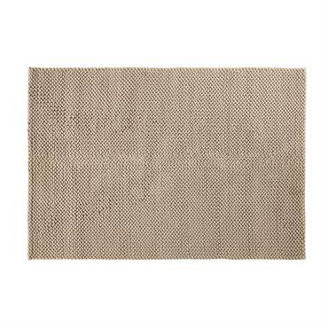 Tapis en coton tressé beige 160x230