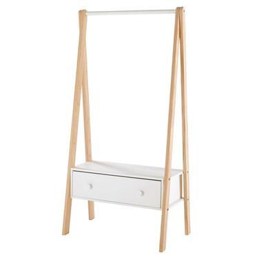 Idéal pour aménager une chambre d'ado, le portant 1 tiroir blanc JOY apportera un rangement astucieux dans les plus petits espaces. Avec son allure épurée et originale, ce portant blanc ...