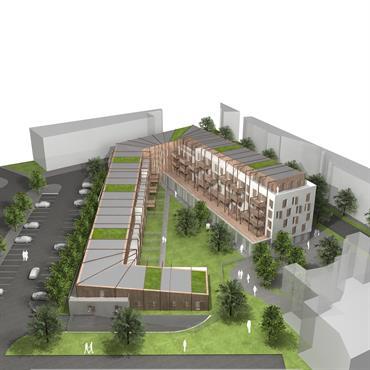 Programme : 70 logements Lieu : Savigny Le Temple Maître d'ouvrage : Avec Spirit, pour EPA Sénart Mission : Consultation - concours Surface hab ... Domozoom