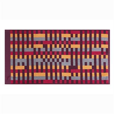 Drap de douche coton 70x140 cm violet imprimé