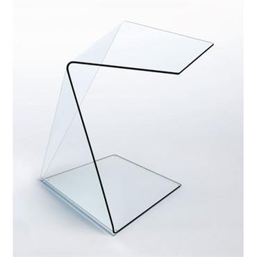 Table basse Harold et Maude modèle 2 - Glas Italia transparent en verre