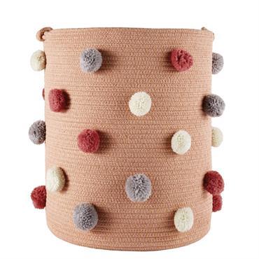 Parents et enfants craqueront sans plus attendre sur le panier rose pompons multicolores SUZON . Les couleurs pastel s'associent pour un rendu plein de douceur, les pompons viennent dynamiser le ...