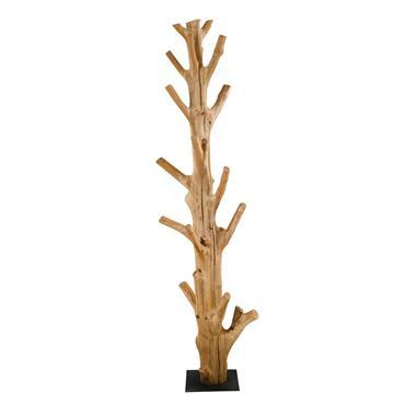 Portemanteau en bois recyclé de mangrove