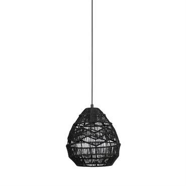 Suspension en corde D25cm noir