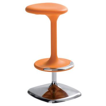 Tabouret haut réglable Kant /Pivotant - Plastique & métal - Casamania Orange