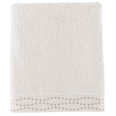 Le drap de bain brodé Botany est composé à 60% de coton et à 40% de viscose de bambou (600 g/m²) ce qui la rend douce et moelleuse. Une éponge ...