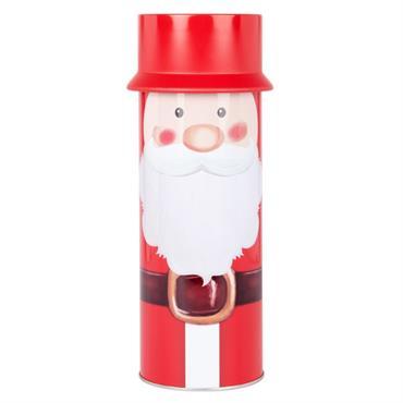 Boîte Père Noël en métal rouge et blanc