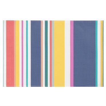 Set de table multicolore imprimé bayadère