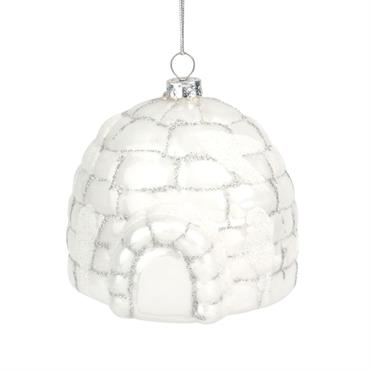 Suspension de Noël igloo blanc