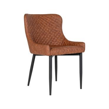 Chaise moderne en simili cuir avec accoudoirs RALBI