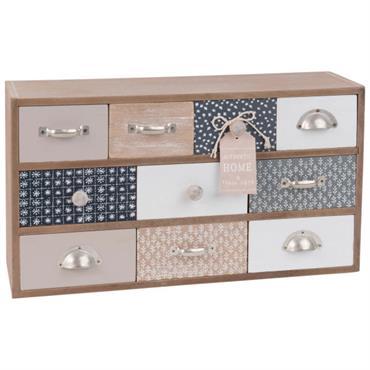 Boîte de rangement 10 tiroirs à motifs