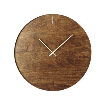 Horloge en manguier et métal doré D81