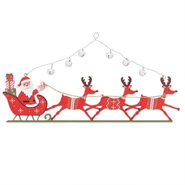 Suspension de Noël traineau du Père Noël rouge
