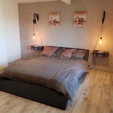 Chambre style vintage - industrielle