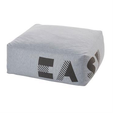 Pouf carré gris chiné