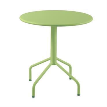 Table ronde en métal et pliante Riviera 80 cm