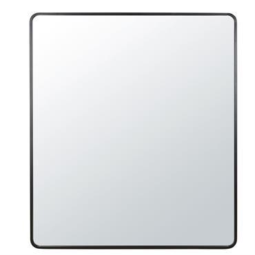 Miroir bords arrondis en métal noir 182x160