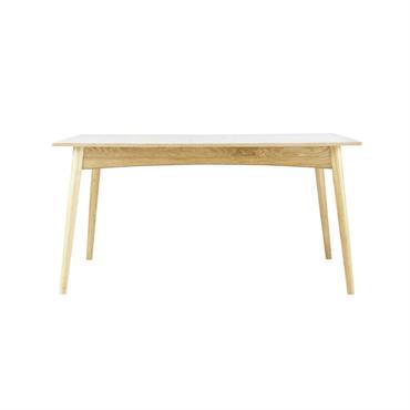 De forme rectangulaire, cette petite table blanche complètera votre salle à manger ou votre cuisine en toute simplicité. Surmontée d'un plateau blanc, cette table à manger vous offrira également un ...