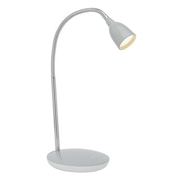 Lampe acrylique grise led