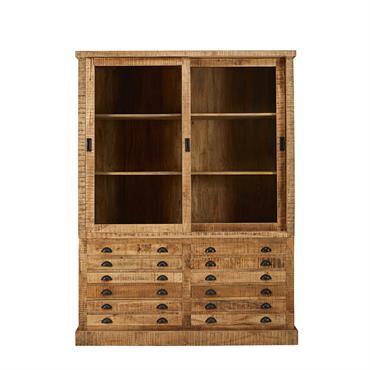 AUTHENTIQUE Rien de tel que le bahut haut en bois massif FACTORY pour apporter une touche d'authenticité à votre intérieur. CHARME NATUREL En bois de manguier, ce vaisselier 2 portes ...