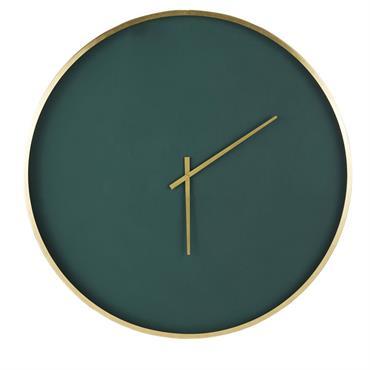 Horloge en métal vert et doré D86