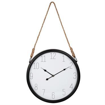 Horloge à suspendre en métal et corde D45