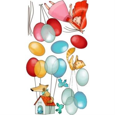 Le stickers déco Dans les airs fille est composé de ballons, et de personnages plus mignons les uns que les autres, de vrais petits bijoux pour décorer vos murs. Acte ...