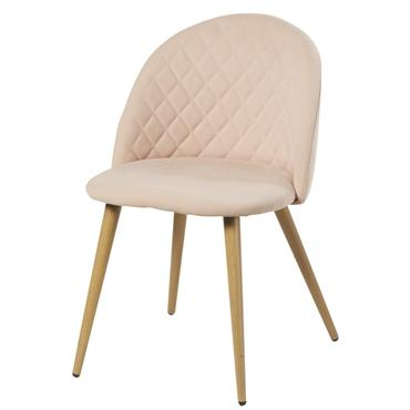 Chaise vintage rose clair Mauricette