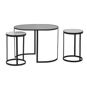 Astucieux et chic, le trio de bouts de canapé ERICK trouvera vite sa place chez vous ! La table d'appoint ovale abrite sous sa structure en métal et son plateau ...