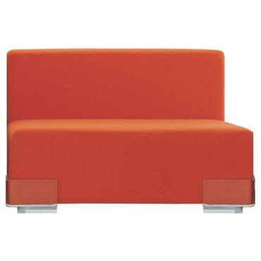 Canapé modulable Plastics / Module sans accoudoirs - L 90 cm